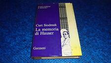 CURT SIODMAK:LA MEMORIA DI HAUSER.GARZANTI R'70.GENNAIO 1970 COP.RIGIDA!