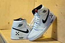 Air JORDAN 1 ONE OFF WHITE personalizzato SZ 6 UK