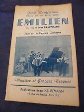 Partition Emilien Jean Kauffmann Maurice & Georges Trognée Music Sheet