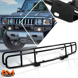 For 03-09 Hummer H2 OE Factory Stainless Steel Front Bumper Grille Guard Black