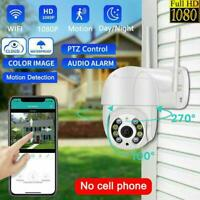1080P WIFI IP Camera Wireless Outdoor CCTV HD PTZ Smart IR Cam New Security Q3D6