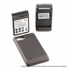 4000mAh Extended Battery for Black Motorola Droid Bionic 4G XT875 Charger