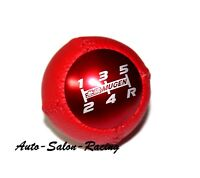 MUGEN LEATHER RED 6 Speed Shift Knob for Honda CRZ CIVIC ACCORD S2000 FA5 FD2 FG2 SI