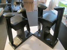 Vintage Railroad Spikes and Rail Book Ends