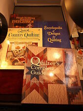 "4 QUILTING BOOKS ""BAZAAR PATCHWORK"" ""ENCYCLOPEDIA OF DESIGNS"" ""QUICK COUNTRY"""