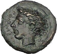 KATANE in SICILY 415BC river-god Amenanos Thunderbolt Ancient Greek Coin i51583