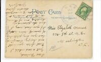 U.S.S. WASHINGTON  SHIP CANCEL 1909 JUNE