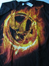 NEW T-Shirt Tee short sleeve The Hunger Games Mockingjay Fire XL black Rue 21 wo