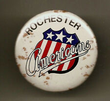 Rochester Americans Vintage 1973 Pin-Back Button AHL Minor League Hockey Amerks