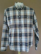 Gant by Michael Bastian Men's Casual L/S Blue Check Button Down Shirt Size XL 19