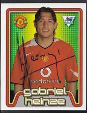 Merlin Football Sticker- 2005 Premier League - No 361 - Man Utd - Gabriel Heinze