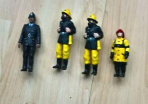 4 X ELC Figures Policeman And Fireman - Key Worker Figures