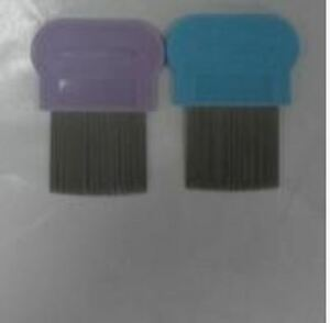 Removes Lice Dandruff Hair Comb Magic Suyod Set of 2 - VIOLET/BLUE