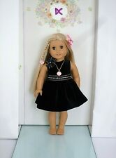 More details for handmade american girl our generation little black dress 18 inch doll clothes