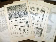 Encyclopédie Diderot D'Alembert 6 PLANCHES FOURREUR Fourrure OURS LOUP Costume
