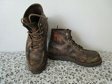"""rare RED WING 8884 HERITAGE camo WORK 6"""" MOC TOE BOOT 9 D limited edition"""