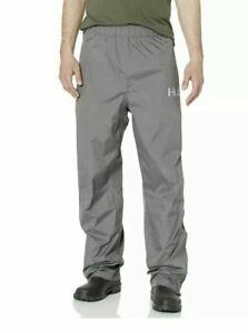 Huk Fishing Rain Pant Waterproof Men's Size XL H4000016 Charcoal Gray White