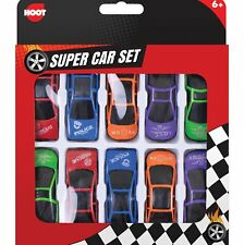 10 x Childrens Mini Plastic Toy Sports Model Cars Interchangeable Racers Set