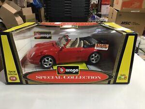 Bburago Porsche 911 Carrera Cabriolet, 1:18 Scale, Die Cast,