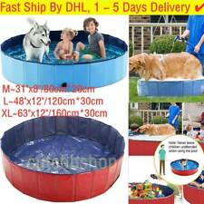 Foldable Pet Bath Swimming Pool Collapsible Kids & Dog Bathing Summer Outdoor XL