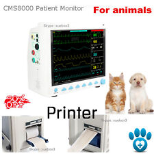 New portable Veterinary monitor Vital Sign ecg nibp spo2 pr resp temp+printer