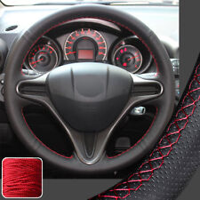 Hand Sew Steering Wheel Cover DIY Wrap for 2009-2013 Honda Fit Jazz 2014 Insight