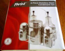 New listing Parini 6Pc Stainless Steel Condiment Set, Brand New