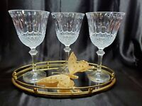 Shannon By Godinger Sutton Place Lead Crystal Wine / Water Goblet ~ Set of 3