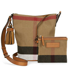 Burberry Small Ashby Crossbody Bag - Saddle Brown