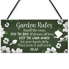 Garden Sign Outdoor Novelty Plaque SummerHouse Sign Garden Shed Friendship Gift