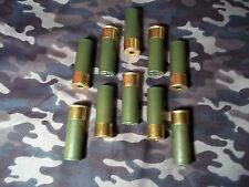 12 GAUGE SNAP CAPS,  O.D. GREEN,  HIGH BRASS,  10 PACK