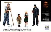 Civilians Western Region Europe, WWII era  1/35 MasterBox 3567