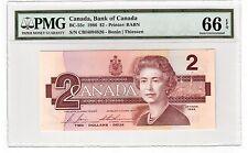 Canada $2 Dollars Banknote 1986 BC-55c PMG GEM UNC 66 EPQ