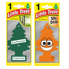 2 x Magic Tree Little Trees Car Air Freshener Scent FOREST FRESH + SILLY CITRUS