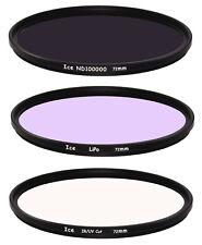 ICE 72mm Astral 3 Filter Set  LiPo, IR/UV Cut, Solar ND Optical Glass Thin 72