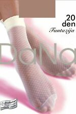 DANA 20 DENIER DIAMOND PATTERNED LOLITA STYLE ANKLE HIGHS UK 4-7