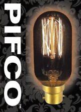 PIFCO T45 40 WATT B22 BAYONET VINTAGE TUBULAR RETRO LIGHT BULBS