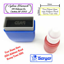 DIY Stamping Office Company Stamps Return Address Stamp Signature Gift Card Deco