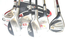 TaylorMade 3-4 Burner ADAMS RPM Woods 2-3 Rescue TM Raylor Six Left Hand Clubs