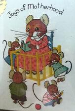 Dimensions Crewel Kit Joys of Motherhood New Vintage 1980 Mouse Mom & Babies