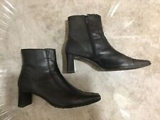 Sally O'Hara Black Leather Ankle Boot Uk6.5 / 40