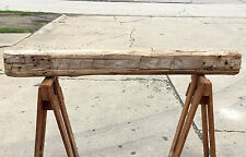 "Vtg 60"" Reclaimed HAND HEWN BARN BEAM POST Fireplace Mantle Shelf RUSTIC 1886"