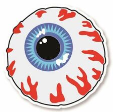 "EYEBALL STICKER, BLOODSHOT EYE DECAL, 3"" DIAMETER, ZOMBIE EYE STICKER (EB-220)"