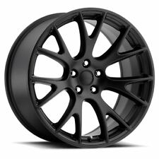 4 New 22x9 +20 Voxx Replica Dodge Hellcat Replica Matte Black Wheel Rim 5x115