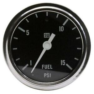 Stewart Warner 82405 2-5/8 Deluxe Mechanical Race Fuel Pressure Gauge