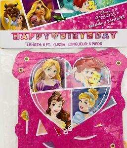 DISNEY PRINCESS Dream Big HAPPY BIRTHDAY BANNER ~ Birthday Party Supplies Hang