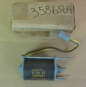 Mopar 3586564 Tailgate Window Motor 1971-73 B-body Plymouth Dodge Station Wagons
