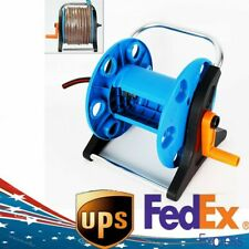 Outdoor Garden Hose Pipe Reel Cart Planting Water Pipe Holder Portable Trolley