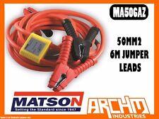 MATSON MA506AZ 50MM2 6M JUMPER LEADS ORANGE ANTI ZAP -  BATTERY AMP CLAMPS