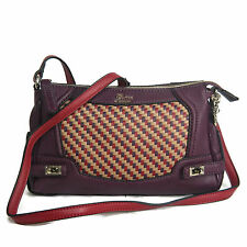 Guess Dizzy Top Zip Crossbody Bag Plum Multi